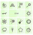 14 star icons vector image vector image