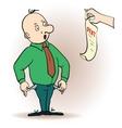 a cartoon character man vector image vector image