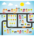 Abstract paper town vector image vector image