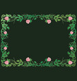antique renaissance frame with pink roses vector image