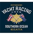 australia offshore yacht racing vector image vector image