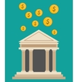 bank building currency dollar design vector image