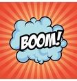 boom bomb cloud striped explosion icon vector image vector image