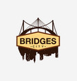 bridges city logo template vector image