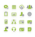 business network icons natura series vector image vector image