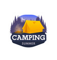 camping tent hiking or trekking tourism club icon vector image vector image