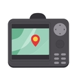 Car navigator mobile gps navigation flat vector image vector image
