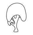 cartoon tree outline symbol icon design beautiful vector image vector image