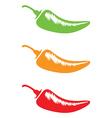 chilli hot mild medium hot vector image