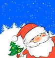 Christmas card Santa vector image