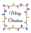christmas lights border vector image