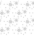 christmas seamless pattern from gray snowflakes on vector image