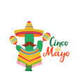 cinco de mayo lettering 5th may banner vector image