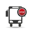 city bus stop road sign design vector image vector image