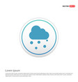 cloud raining icon - white circle button vector image