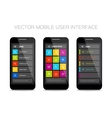 colorful mobile user interface design vector image vector image