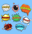 comic speech bubbles sound effects vector image vector image