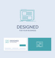 content design frame page text business logo line vector image
