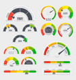 credit score indicators with color levels from vector image vector image