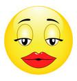 cute sexual girl emoticon vector image vector image