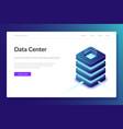 data center web template server room vector image