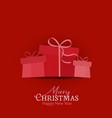 decorative christmas gifts vector image vector image