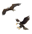 eagle with polygonal triangle style vector image