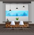 eco-minimalist style interior vector image vector image