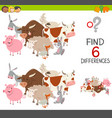 educational finding differences game vector image vector image