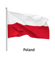 flag republic poland vector image