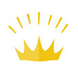 gold yellow shining crown icon symbol of vector image vector image