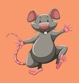 Grey mouse walking alone vector image