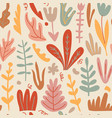 hand drawn floral seamless pattern home vector image vector image