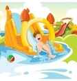inflatable castles and childrens hills on vector image vector image