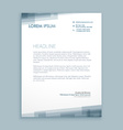 letterhead abstract design vector image vector image