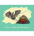 Like a bat out of hell expression vector image vector image