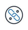 link glyph icon vector image