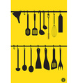 Litchen Utensils vector image vector image