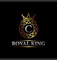 luxury letter c royal king logo design vector image vector image