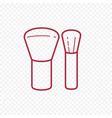 make up brush thin line icon vector image vector image