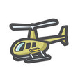 military helicopter air force icon cartoon vector image