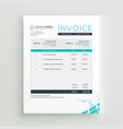 modern invoice template design vector image vector image