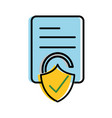 moved color business document paper with padlock vector image vector image