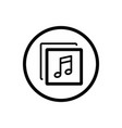 music line icon in a cirlce and a white background vector image vector image