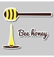 Natural Bee Honey vector image