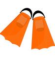 Orange flippers vector image vector image