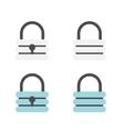 Padlock flat icons vector image