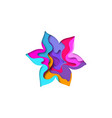paper cut flower shape 3d design vector image