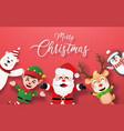 paper texture postcard santa claus and friend vector image vector image