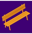 Park Bench Isolated Isometric vector image